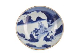 A 20TH CENTURY CHINESE BLUE AND WHITE BOWL