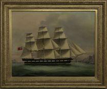 SHIP PORTRAIT, A BRITISH OIL