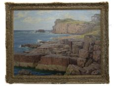 OFF THE SCOTTISH COAST, AN OIL BY FRANCIS PATRICK MARTIN