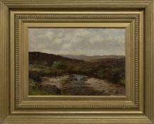 HIGHLAND SCENE, AN OIL BY THOMAS HOPE MCKAY