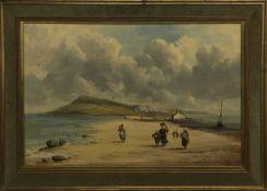 ON THE SANDS, AN OIL BY ROBERT WEIR ALLAN