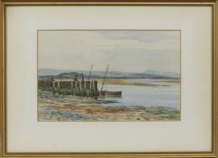 LOW TIDES, A PAIR OF WATERCOLOURS BY DUNCAN MACKELLAR