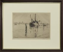 THE PEAT TJALK, AN ETCHING BY ARTHUR BRISCOE