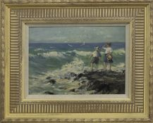 THE PATH, ANSTRUTHER, AN OIL BY W LAUGHLAND COCKBURN