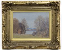 LOCH SCENE WITH DISTANT SNOW, BY GEORGE HOUSTON