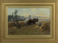 THE HARVESTERS, AN OIL BY GEORGE SMITH