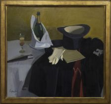 A NIGHT AT THE OPERA, AN OIL BY ALEXANDER GOUDIE