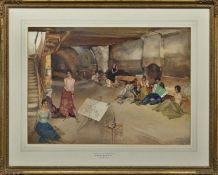 DWELLERS ON THE GROUND FLOOR, A WATERCOLOUR BY SIR WILLIAM RUSSELL FLINT