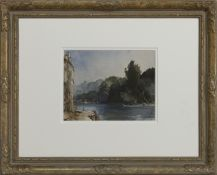 ON THE RIVER LOING AT MORET, A WATERCOLOUR BY SIR WILLIAM RUSSELL FLINT