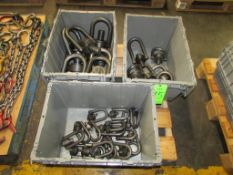 (3) Bins of Assorted Swivel Hoist Rings