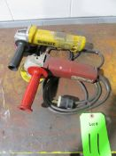 """(2) 4-1/2"""" Electric Angle Grinders"""