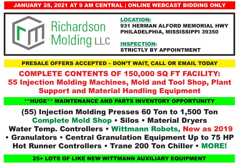 Richardson Molding – (55) Injection Molding Machines & Mold Shop