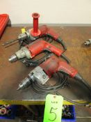 (3) Milwaukee Electric Drills