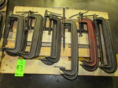 (15) Assorted C-Clamps