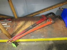 """(2) Ridgid 48"""" Pipe Wrenches"""