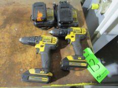 "(2) DeWalt Model DCD780 1/2"" 20V Cordless Drill/Drivers"