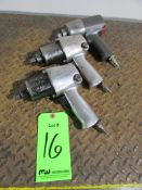 """(3) Ingersoll Rand 1/2"""" Drive Pneumatic Impact Wrenches"""