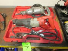 (2) Electric Reciprocating Saws