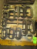 (25) Assorted C-Clamps