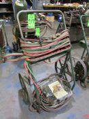 (1) Twin Tank Welding Cart