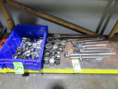 (1) Lot of Assorted Ratchets and Sockets