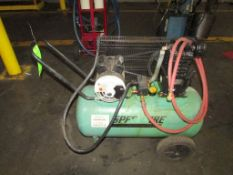 (1) Speedaire Model 1NNF6 (AGM05) 2 HP Portable Horizontal Tank Mounted Air Compressor