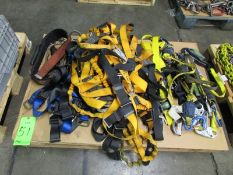 (1) Pallet of Safety Fall Harnesses and Shock Absorbing Lanyards