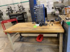 Work Bench with Assorted End Mill & Cutters