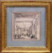 Guardi, Francesco (1712-1793) - Federzeichnung Theaterinterieur