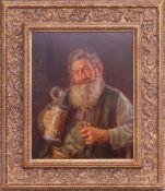 Melkus, Hrvoj (1924-2007) - Charakterbild Pfeiffenraucher