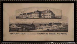 Müller, R. H. Kunstanstalt Köln - Stahlstich Chemische Fabrik Nürnberg Grafik
