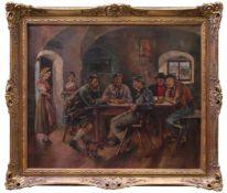 Wohl Jungk, Elfriede (1889-1954) - Impessionistische Wirtshausszene