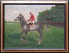 Sig. A. Larsen - Jockey auf Pferd wohl England um 1900
