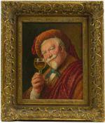 Sig. Wacker (20.Jhd.) - Portrait eines Weintrinkers