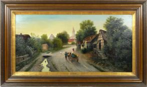 Moser, Herrmann (1835-?) - Dorfstraße in Niederbayern