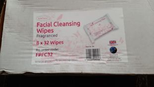 TEN BOXES OF FACIAL CLEANSING WIPES 80 PACKS OF WIPES IN TOTAL *NO VAT*