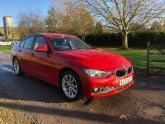 2015/65 REG BMW 318D SE 2.0 DIESEL RED 4 DOOR SALOON, SHOWING 0 FORMER KEEPERS *NO VAT*