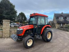 KIOTI DK501C COMPACT TRACTOR, RUNS, DRIVES, CLEAN MACHINE, FULLY GLASS CAB, FRONT WEIGHTS *PLUS VAT*