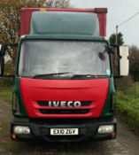 2010 Iveco 75E16 7.5Ton curtainsider with tuck under tail lift with 20ft body and barn doors.