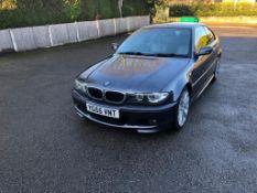 2005/55 REG BMW 320 CD SPORT 2.0 DIESEL GREY COUPE, SHOWING 5 FORMER KEEPERS *NO VAT*