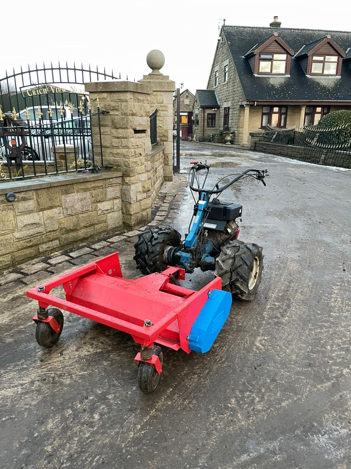 BCS 603 WITH FLAIL DECK, RUNS, WORKS AND MOWS, TWIN WHEELS *NO VAT* - Image 2 of 4