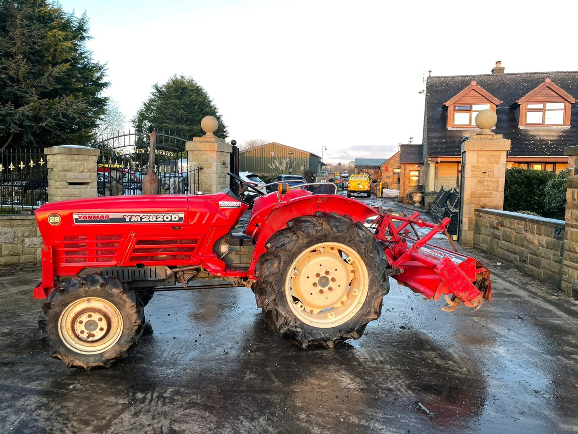 YANMAR YM2820D TRACTOR, 4 WHEEL DRIVE, WITH ROTATOR, RUNS AND WORKS, 3 POINT LINKAGE *PLUS VAT*