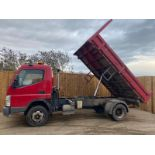 2010/10 REG MITSUBISHI CVS CANTER 75 DAY 7C18 4.9L TIPPER, SHOWING 1 FORMER KEEPER *PLUS VAT*