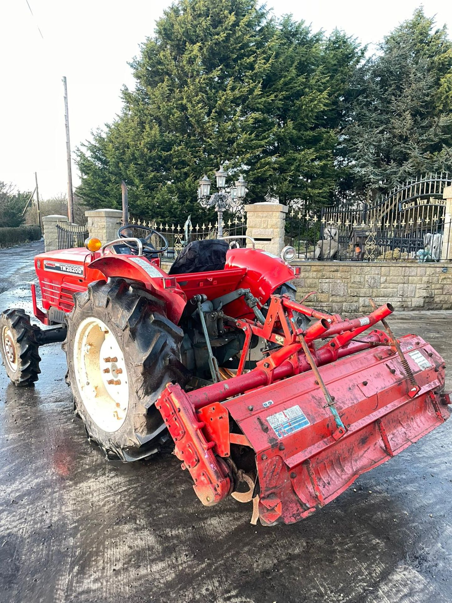 YANMAR YM2820D TRACTOR, 4 WHEEL DRIVE, WITH ROTATOR, RUNS AND WORKS, 3 POINT LINKAGE *PLUS VAT* - Image 6 of 8