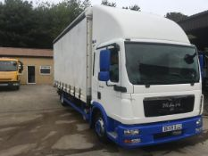 2009/59 REG MAN TGL 7.150 CURTAIN SIDE LORRY WITH UNDER FLOOR TAIL LIFT *NO VAT*
