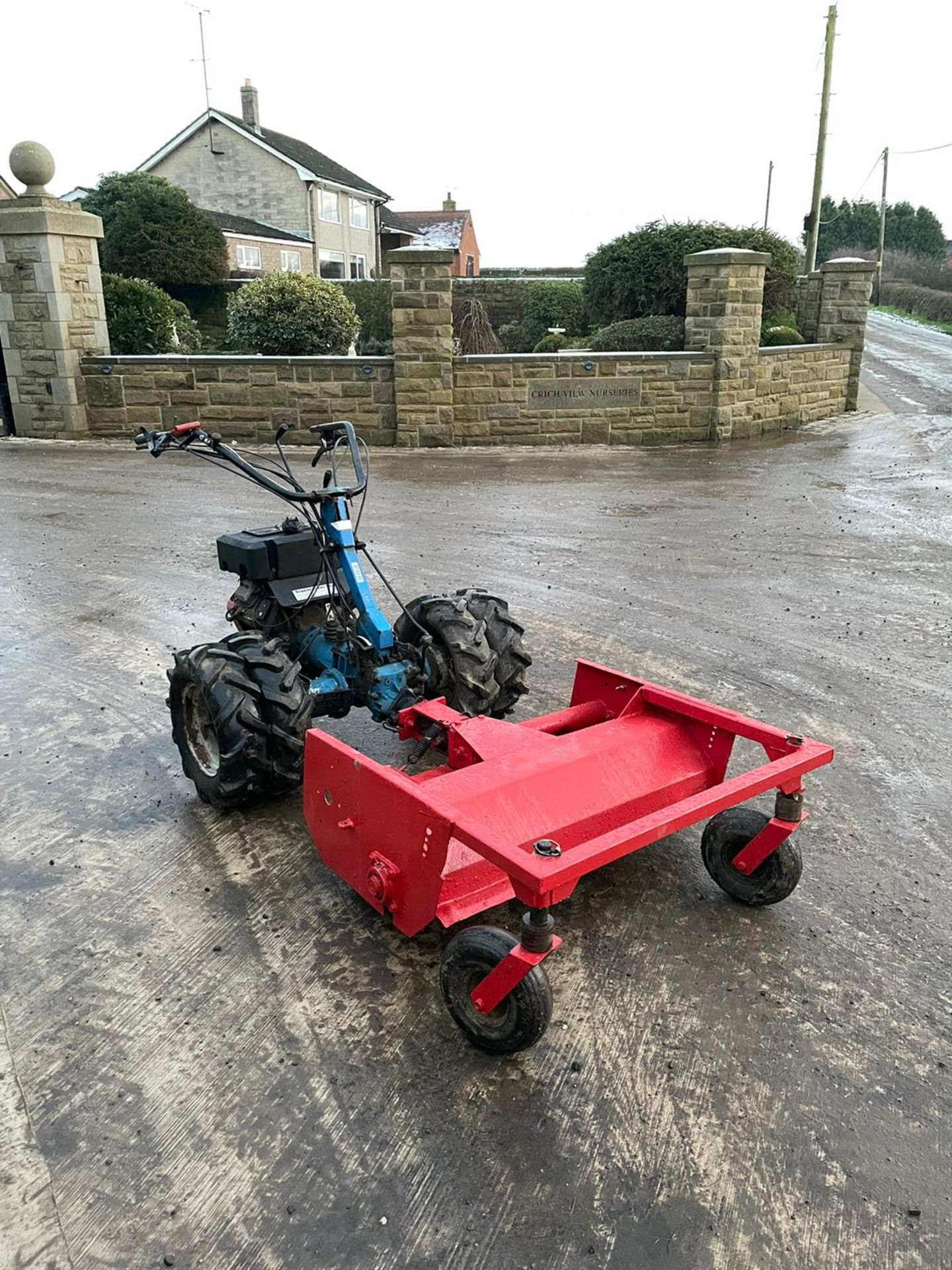 BCS 603 WITH FLAIL DECK, RUNS, WORKS AND MOWS, TWIN WHEELS *NO VAT* - Image 3 of 4
