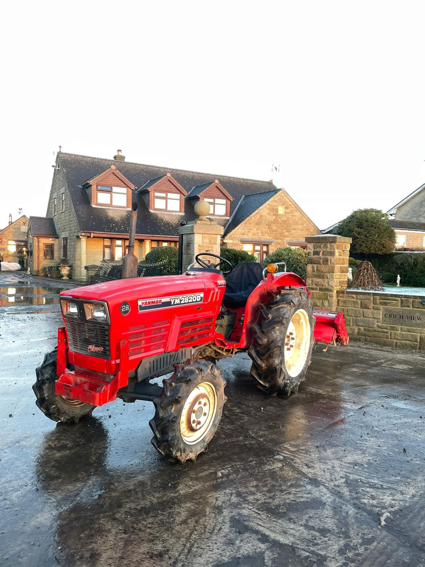 YANMAR YM2820D TRACTOR, 4 WHEEL DRIVE, WITH ROTATOR, RUNS AND WORKS, 3 POINT LINKAGE *PLUS VAT* - Image 2 of 8