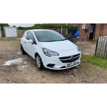 2017/17 REG VAUXHALL CORSA CDTI S/S 1.25 DIESEL CAR / VAN WHITE, SHOWING 1 FORMER KEEPER *NO VAT*