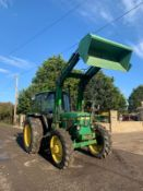 JOHN DEERE 2040S TRACTOR, C/W LOADER AND BUCKET, RUNS, DRIVES AND DIGS *PLUS VAT*