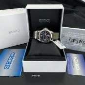 SEIKO SOLAR 100M MILITARY STYLE MENS SNE095P2 WRIST WATCH - USED BUT EXCELLENT CONDITION *NO VAT*